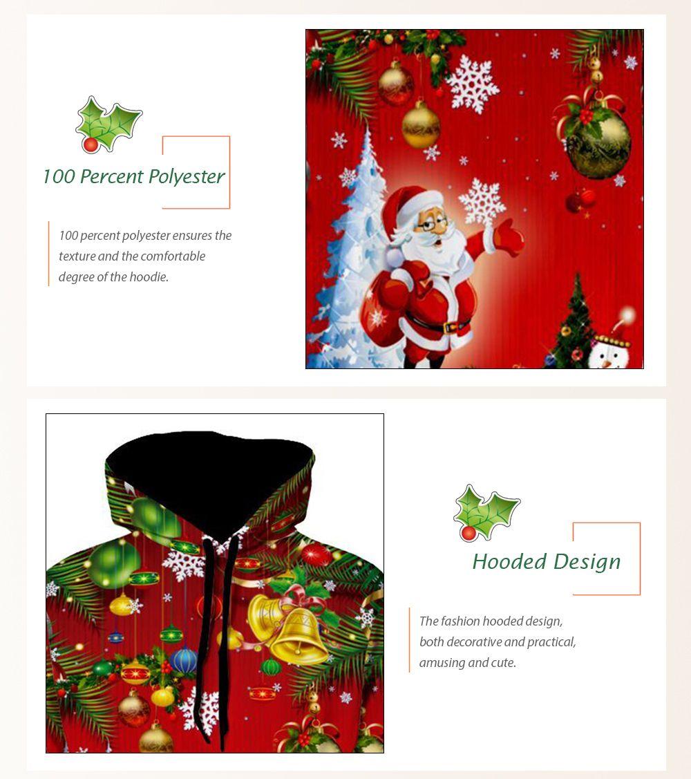 santa christmas tree jingle bells christmas hoodie