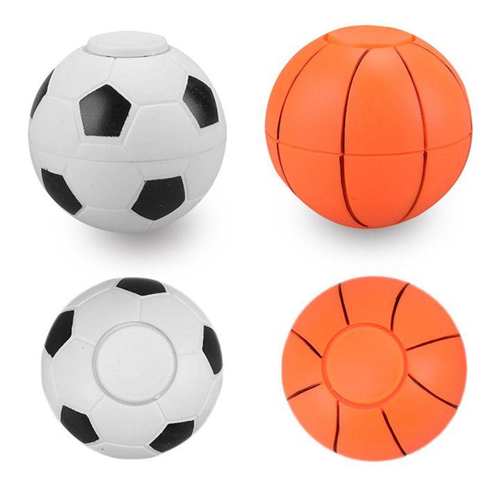 Fiddle Toys Basketball Football Plastic Fidget Spinner