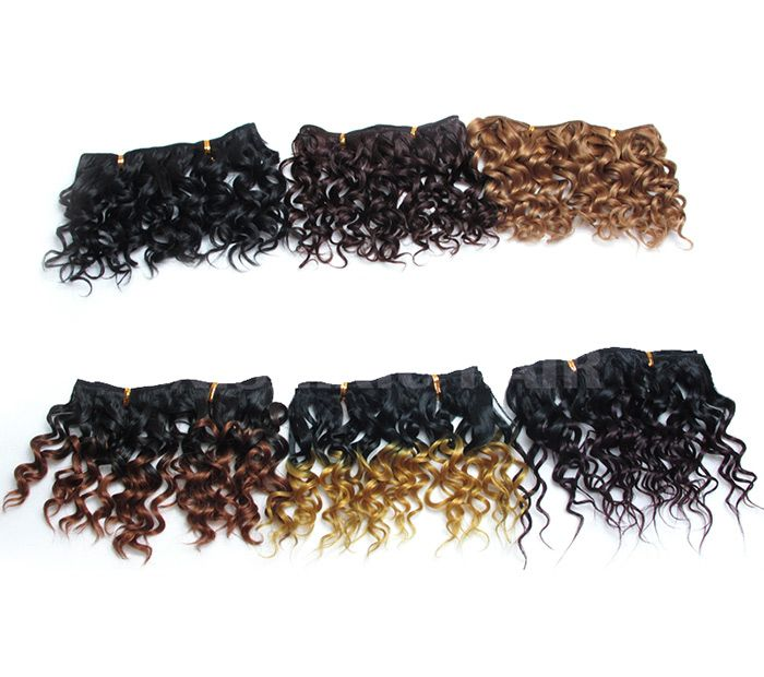 4Pcs Short Shaggy Water Wave Synthetic Hair Wefts
