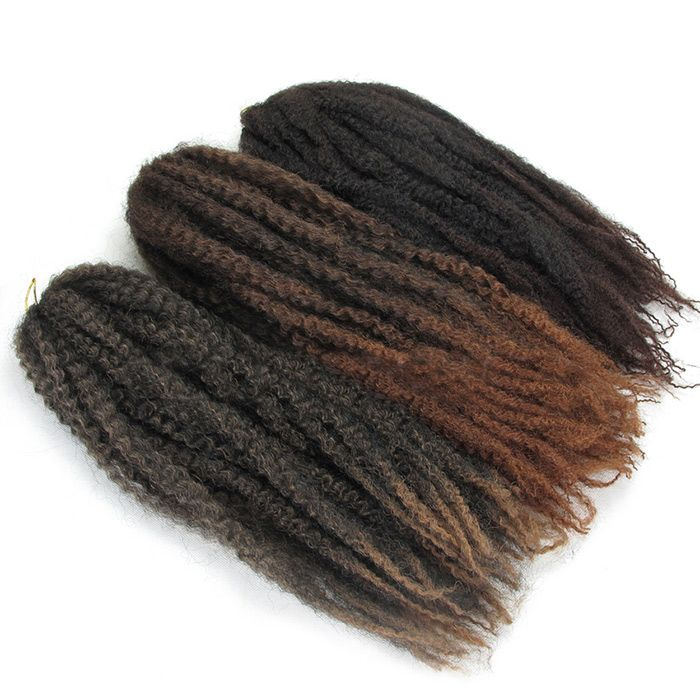 Long Colormix Shaggy Afro Curly Synthetic Hair Weft