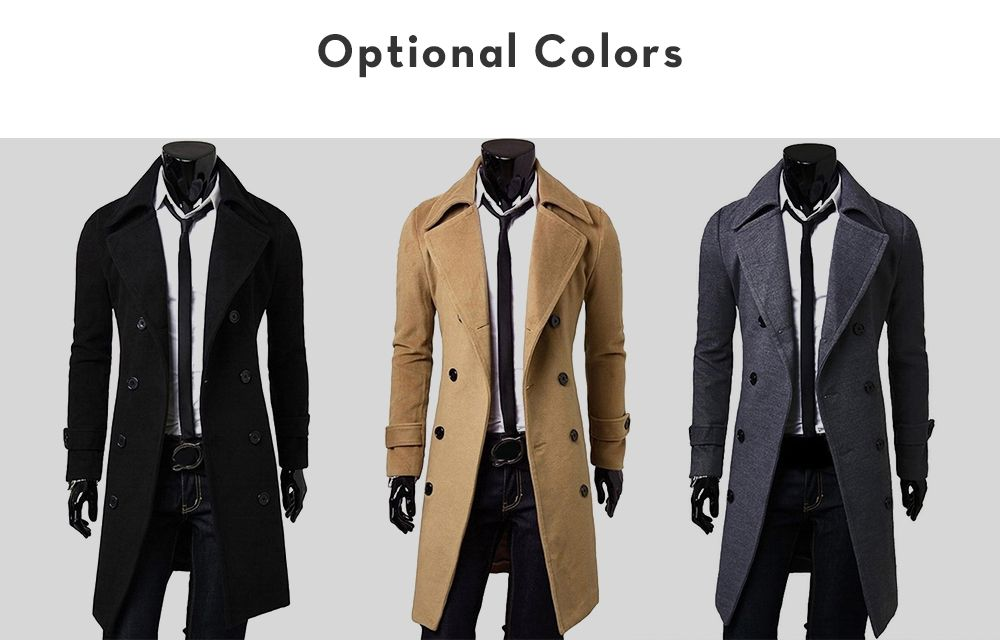 Double Breasted Overcoat with Side Pockets