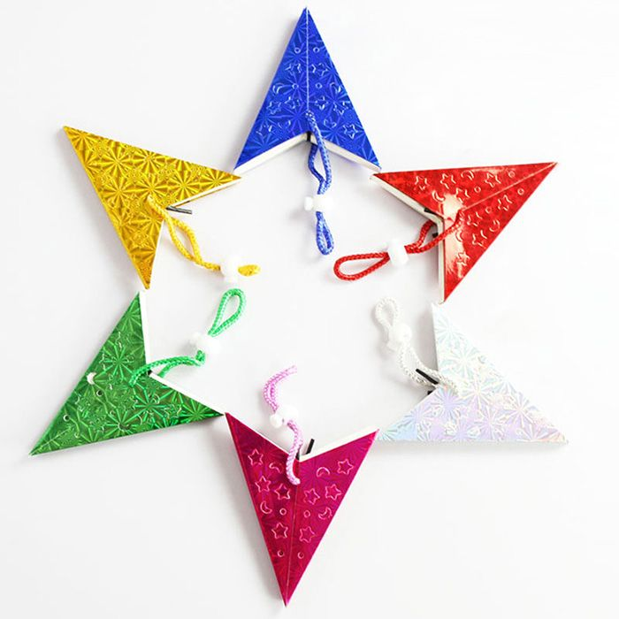 10Pcs Christmas Party Star Laser Hang Decorations