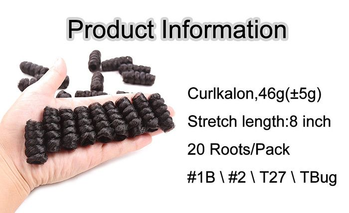 20 Roots/Pack Short Crochet CurlKalon Curly Synthetic Hair Weaves