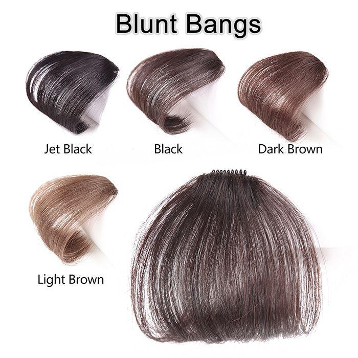 Human Hair Short Clip-in See-through Bang Hair Extension