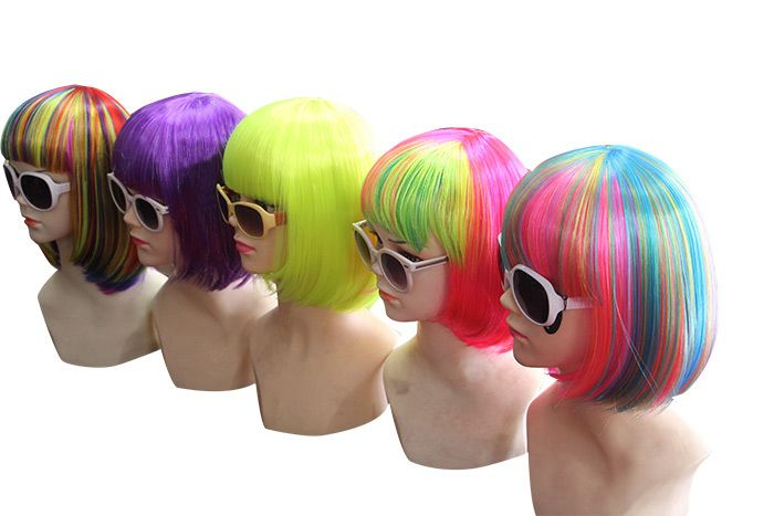 Short Full Bang Straight Bob Lolita Synthetic Wig