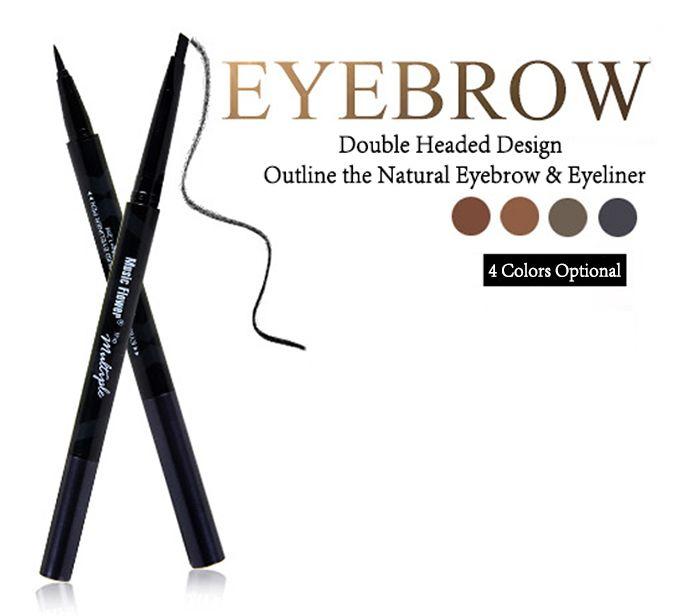 Multifunctional Two in One Long Lasting Eyebrow Eyeliner Pencil