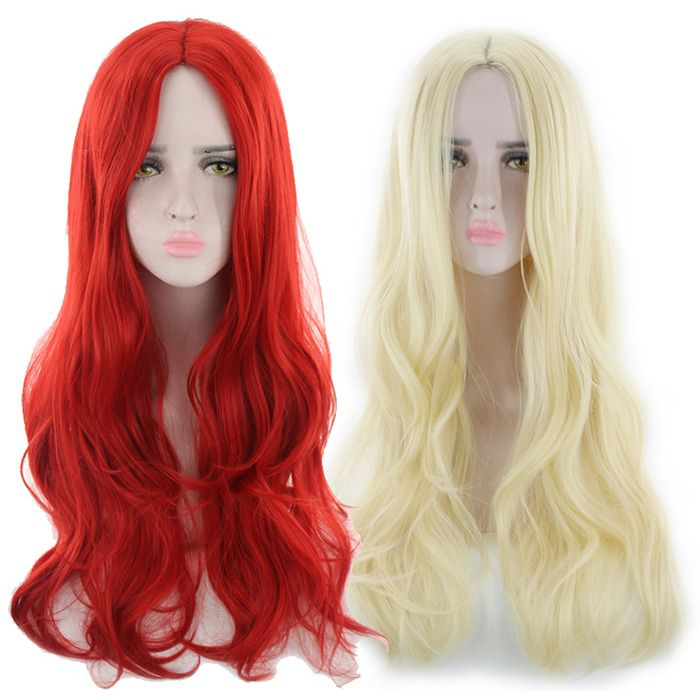 Long Center Parting Wavy Cosplay Synthetic Wig