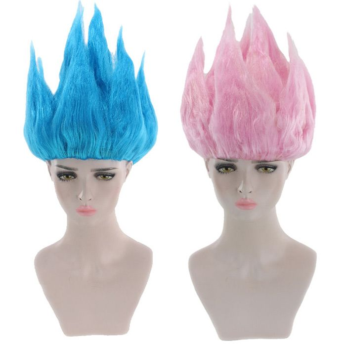 Short Straight Anime Dragon Ball Goku Cosplay Party Synthetic Wig
