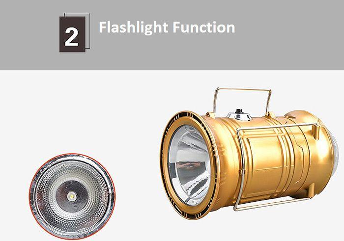 Outdoor Power Bank Stage Light Flashlight Camping Lantern