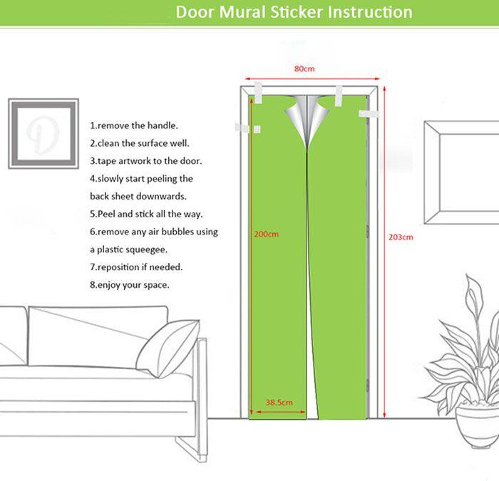 Elephant Bathroom Decorate Environmental Removable Door Stickers