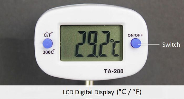 Probe Digital Cooking Food Thermometer