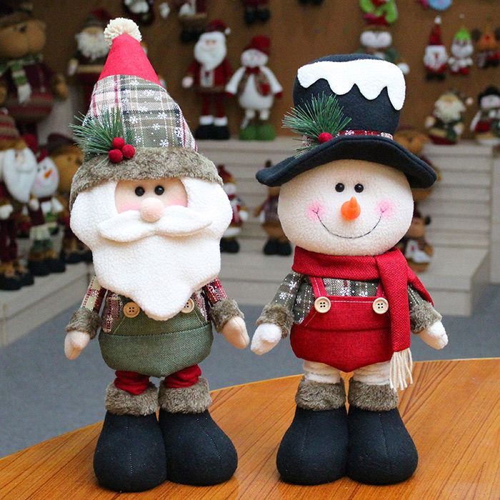 Santa Claus Snowman Handwork Cloth Art Christmas Decoration Doll