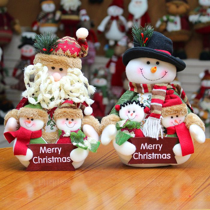 Dress-up Santa Claus Snowman Cloth Doll Ornament Christmas