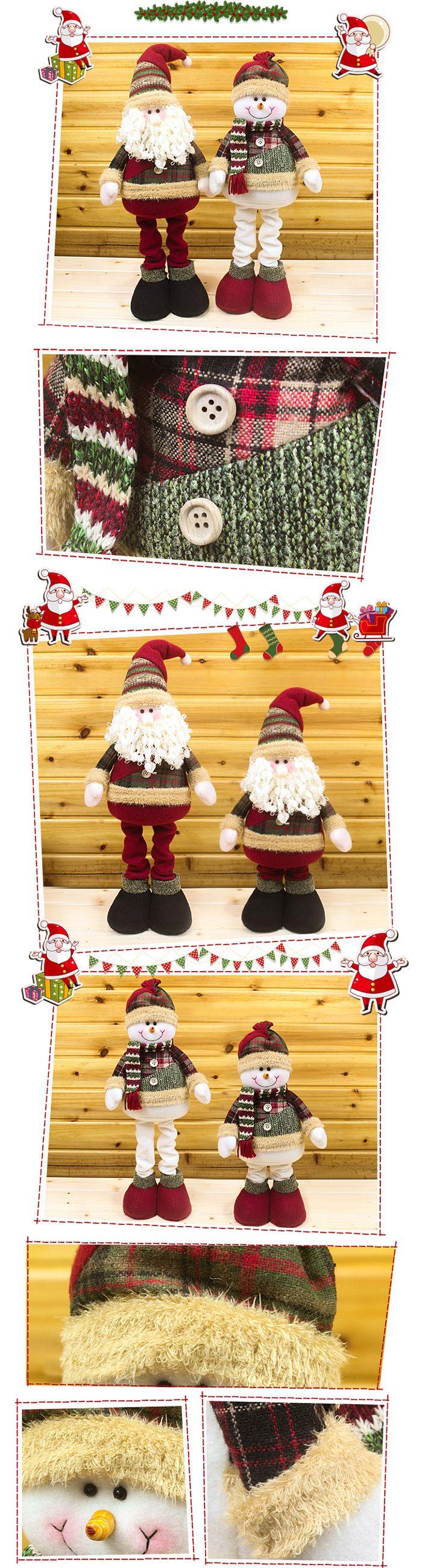 Winter Dress-up Snowman Santa Claus Stretchable Cloth Doll