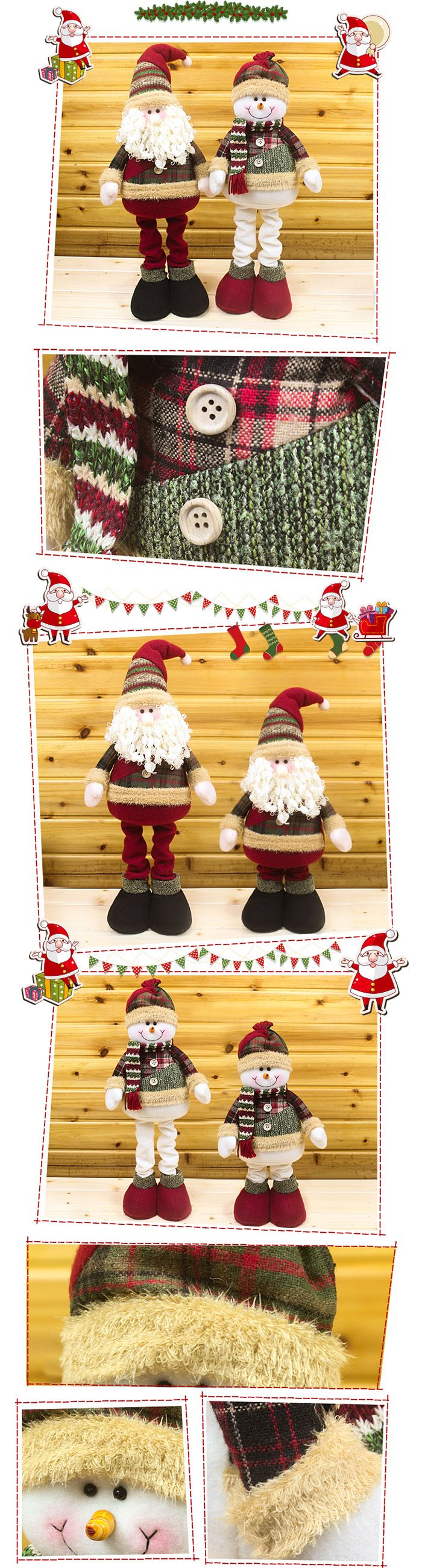 Winter Dress-up Snowman Santa Claus Stretchable Cloth Doll