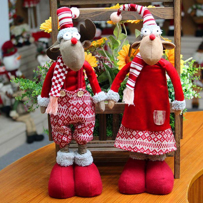 Xmas Dress-up Elk Shape Stretchable Cloth Doll