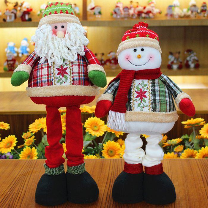 Winter Snowman Santa Claus Stretchable Cloth Doll