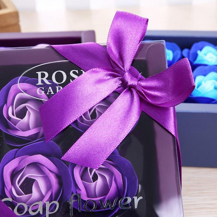 Artificial Soap Rose Flower In A Box Valentine's Day Gift