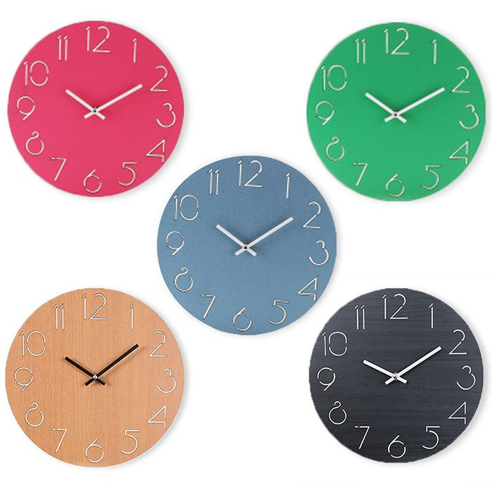 Analog Number Wood Round Wall Clock