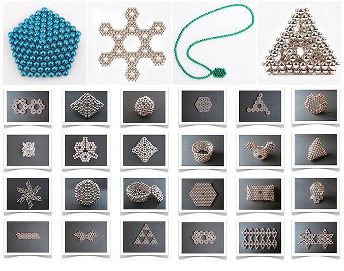 216 Pcs 5mm Magnetic Balls Building Toys