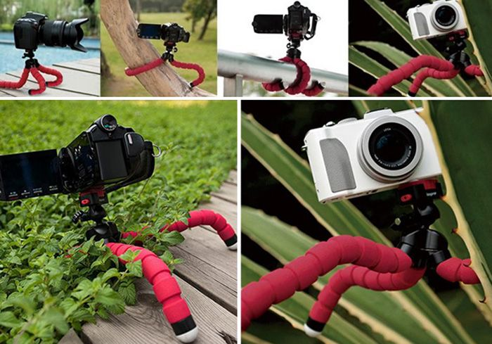 Flexible Mini Tripod With Universal Clip for Phone