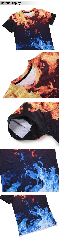 Flame 3D Print Tee