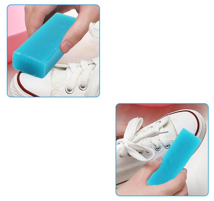 Shoes Stain Clean Rectangular Soap Bar