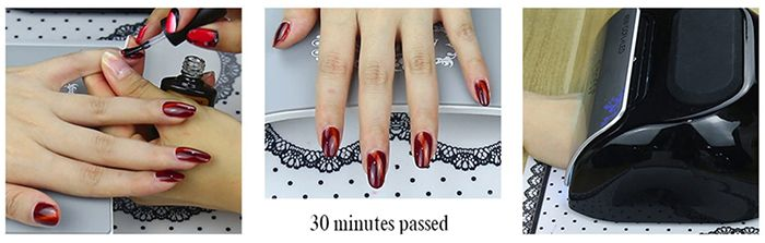 10ML Red Series 3D Cat Eye Soak Off UV Gel Nail Art Nail Polish