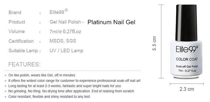 7ML Diamond Glitter Soak Off Nail Art Gel Nail Polish