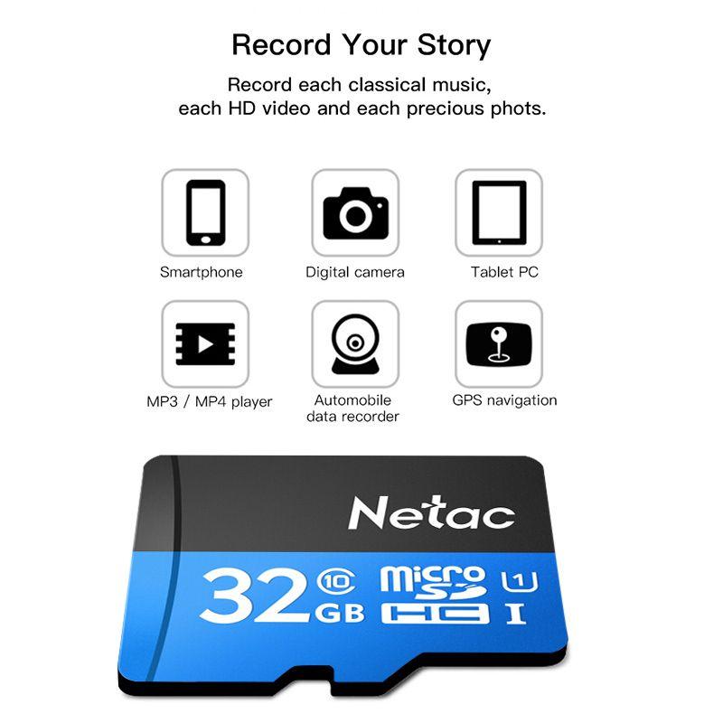 Netac P500 Micro SDHC High Speed Flash Memory TF Card 32GB