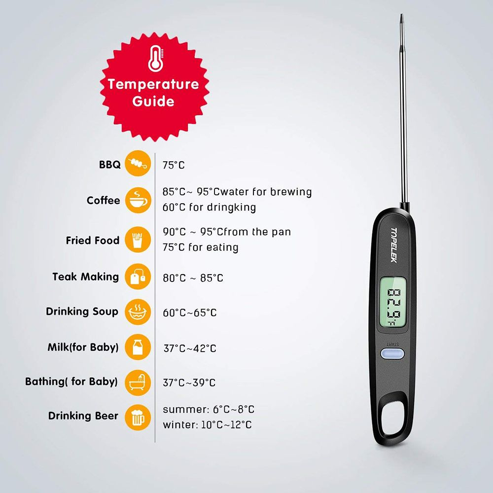 Magnet Foldable Digital Instant Read Food Thermometer