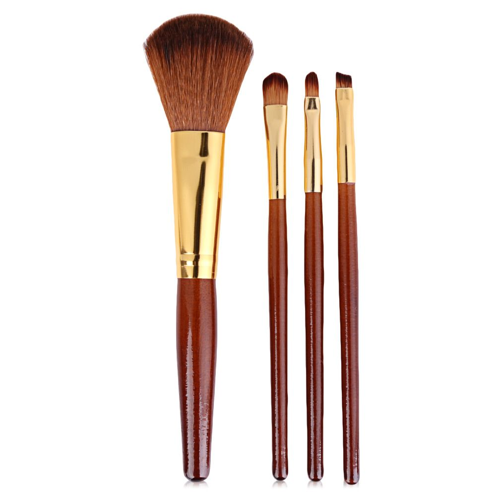 4pcs Makeup Cosmetics Liquid Foundation Blending Brush Set
