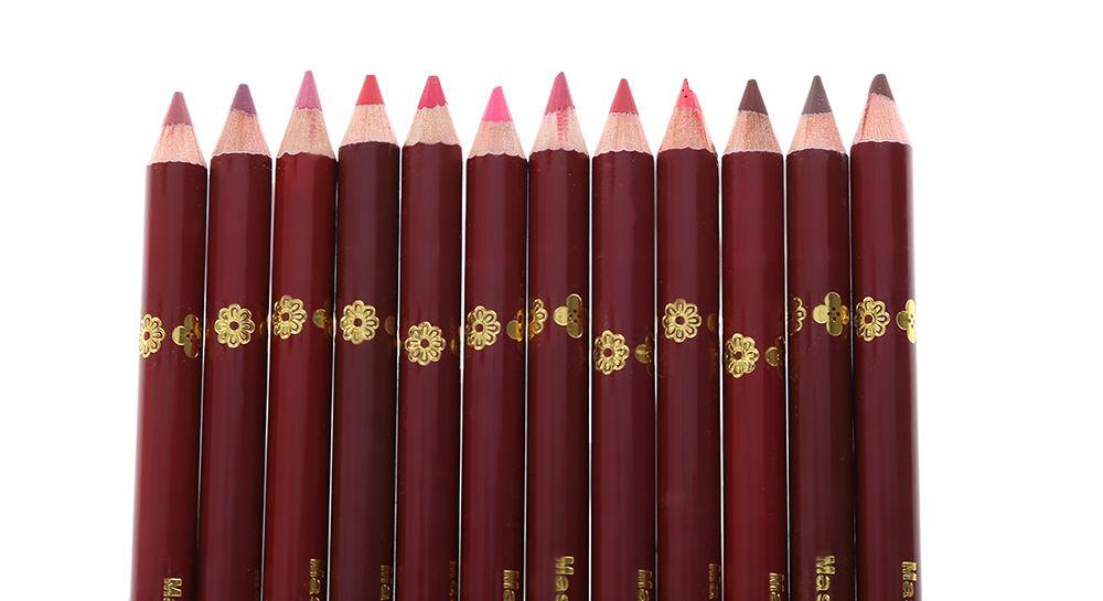 12pcs Fashion Waterproof Long Lasting Smooth Lip Liner Pencil