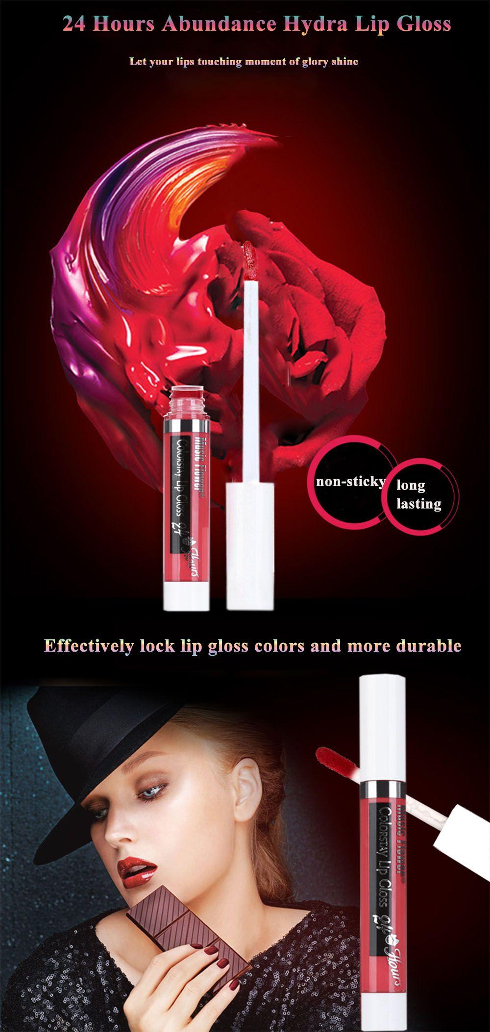 12 Colors Waterproof Moisturizing Liquid Lip Gloss
