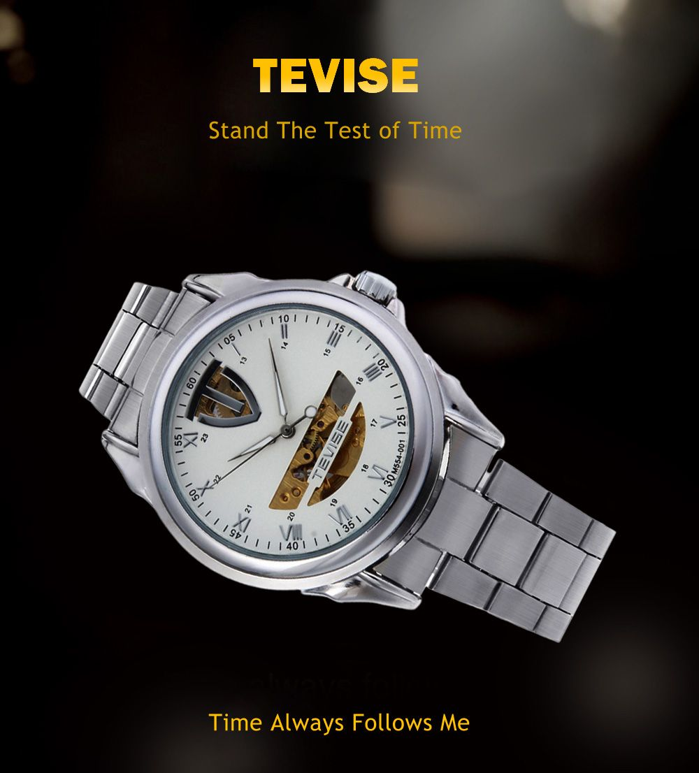 Tevise M554 - 001 Male Automatic Mechanical Watch Tourbillon Luminous 3ATM Water Resistance Wristwatch