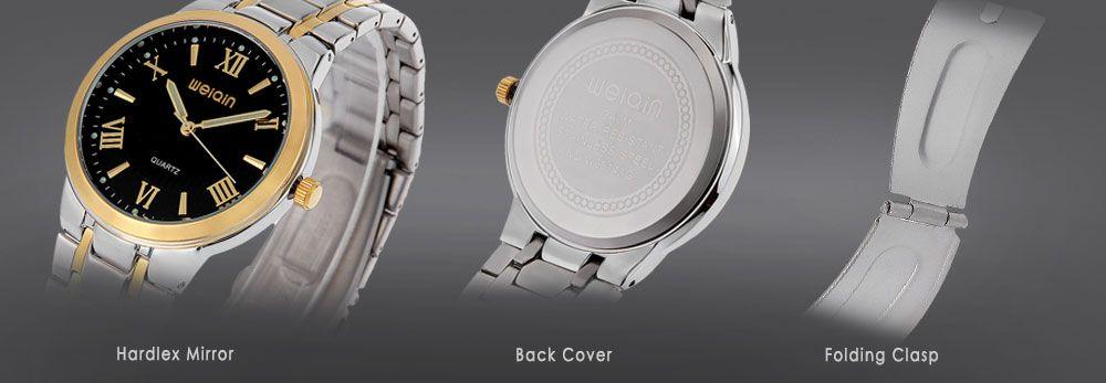 WeiQin W00141G Male Quartz Watch Luminous Hardlex Mirror 3ATM Wristwatch