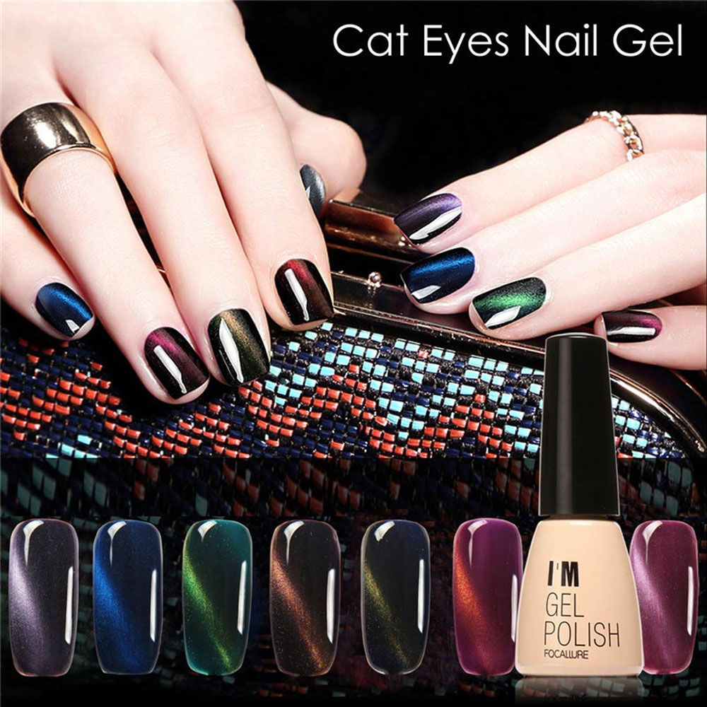 FOCALLURE Lasting Bright Colorful LED 30 Colors UV Gel Manicure Cat Eyes Nail Gel