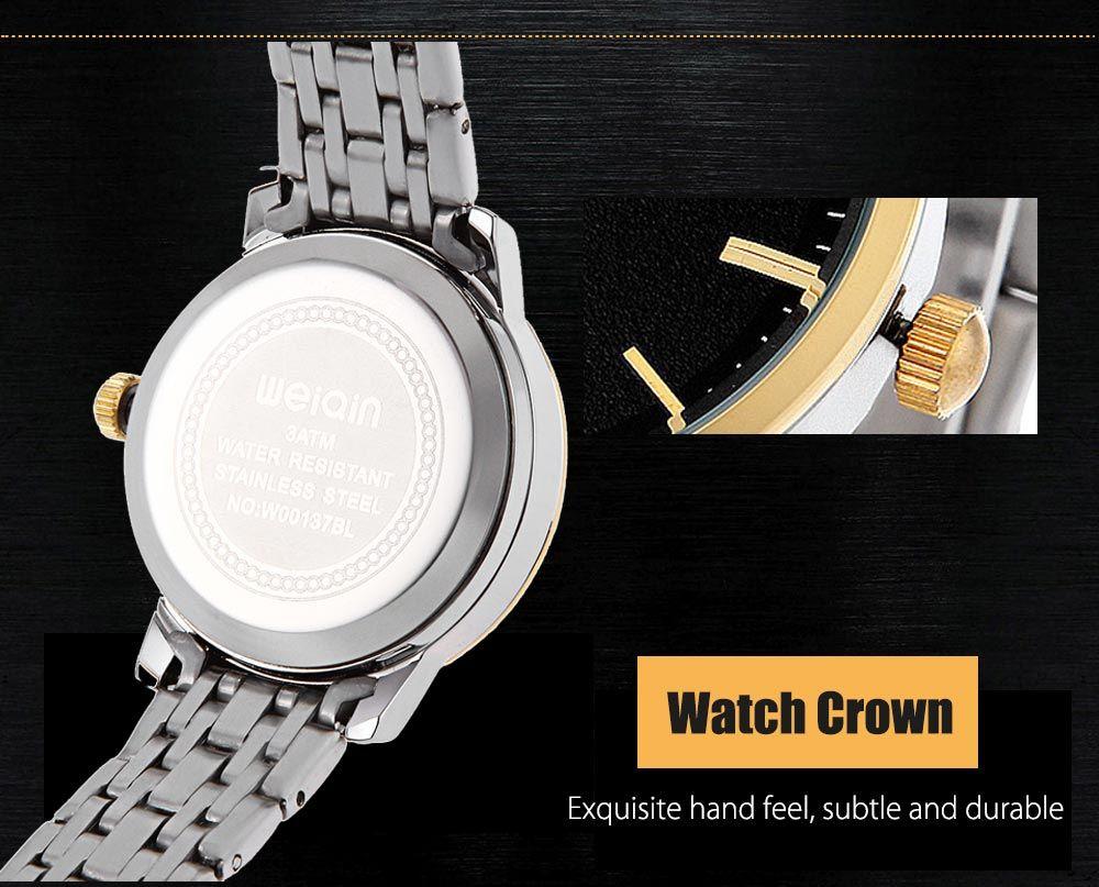 WeiQin W00137BL Female Quartz Watch Date Hardlex Mirror 3ATM Wristwatch