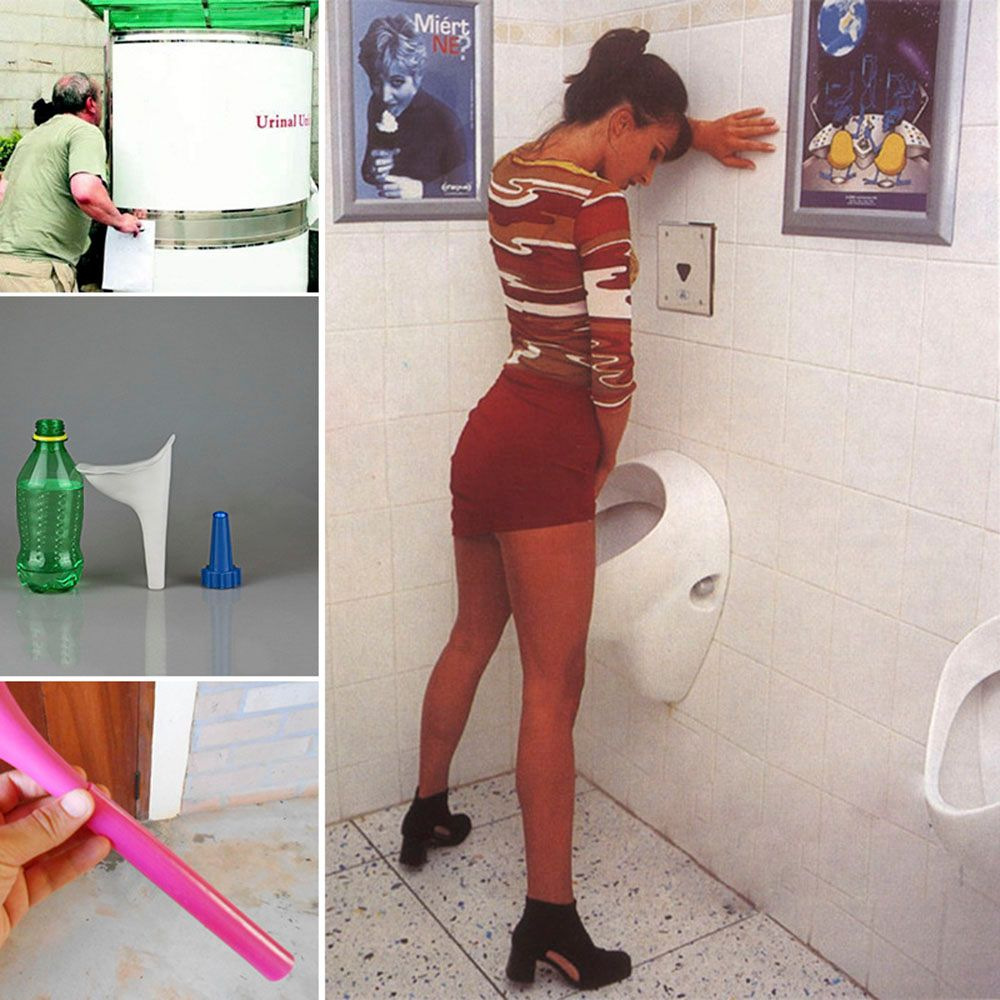 Female Lady Portable Outdoor Travel Soft Silicone Urination Funnel Urinal Device
