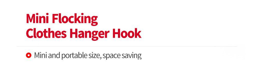 10pcs Creative Mini Flocking Clothes Hanger Hook Closet Organizer