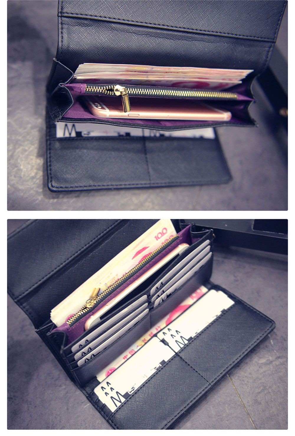 Multi-card Leather Folder Old Classical Style Women Wallet