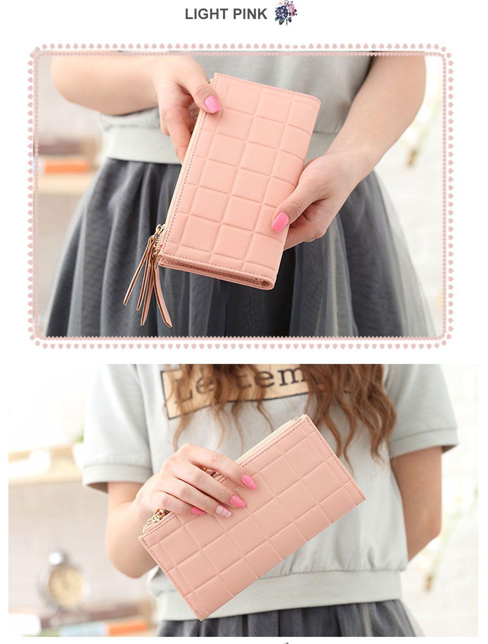 Embossed Fringed Bi Fold Zip Around Wallet