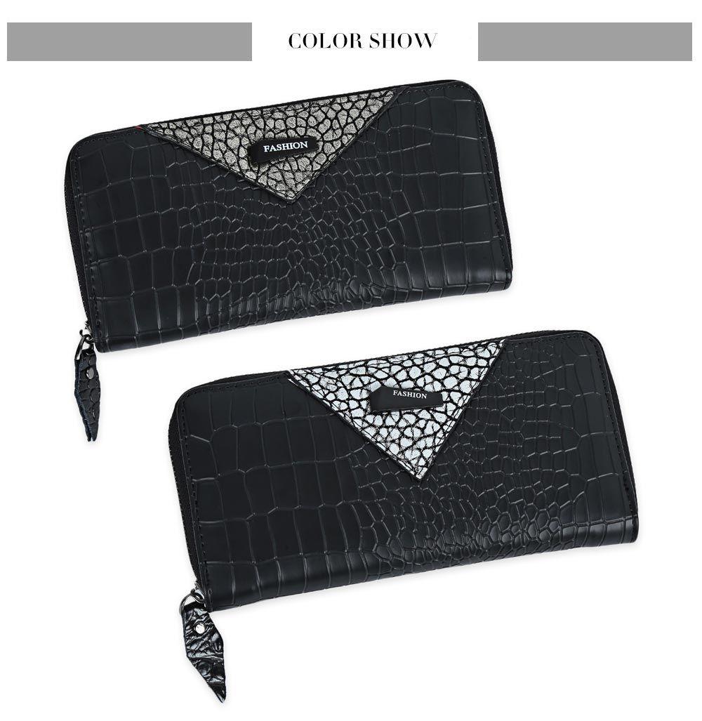 Zip Around Long Crocodile Wallet