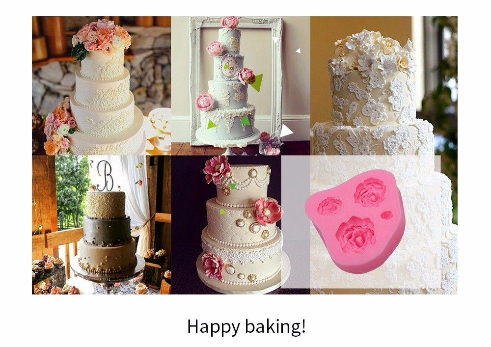 Rose Pattern Cake Fondant Baking Tool Dessert Decorating Mold