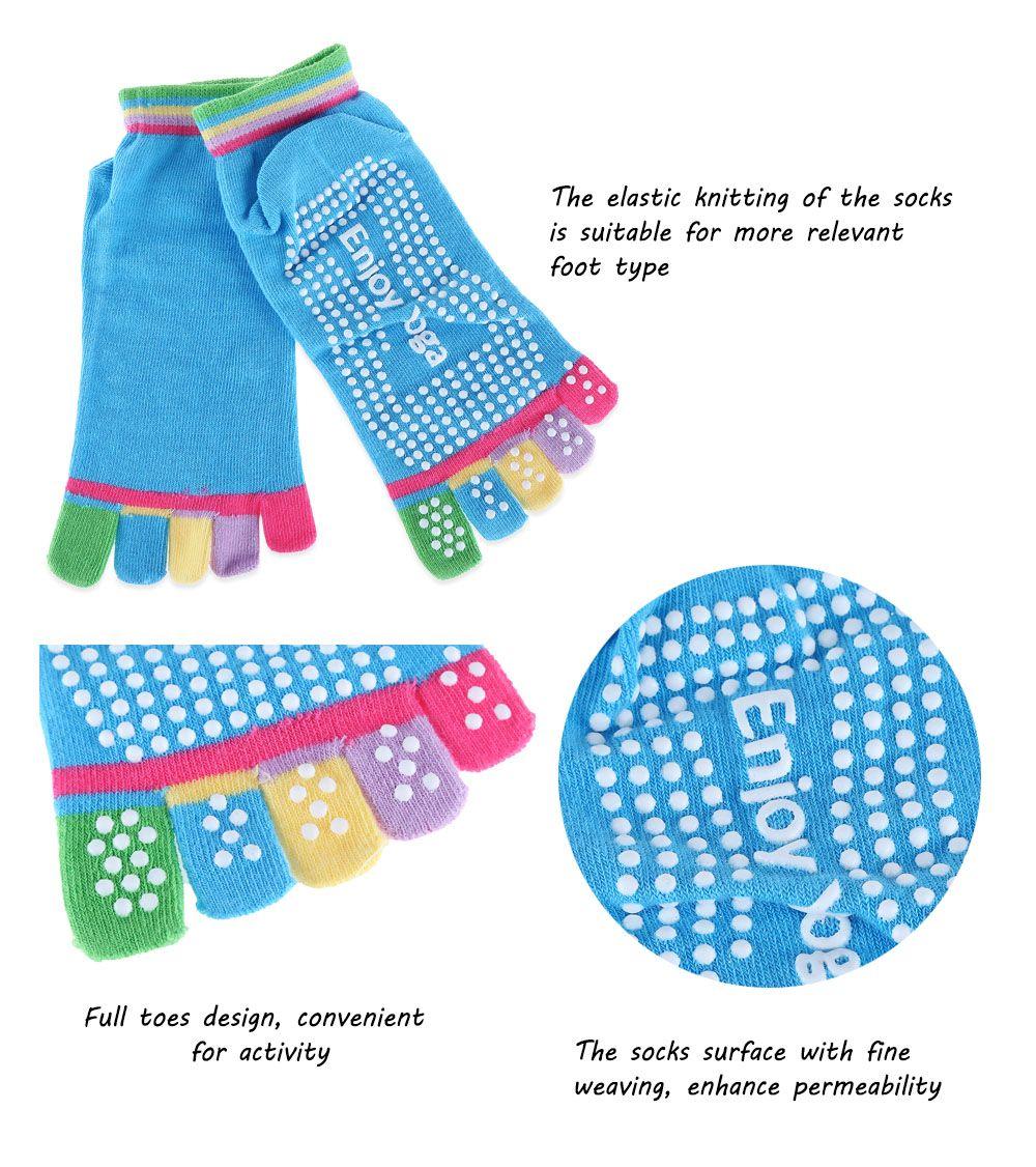 Yoga Socks Non-slip Skid with Full Toe Grips