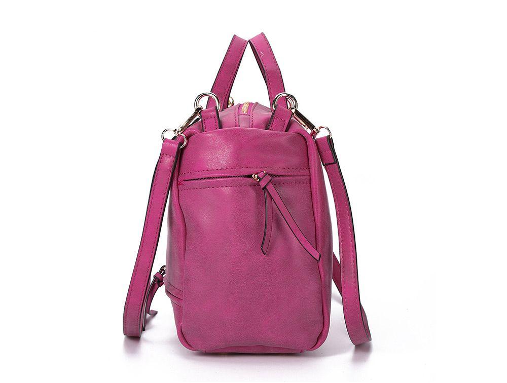 Guapabien Brief Style Pure Color Women Convertible Shoulder Bag