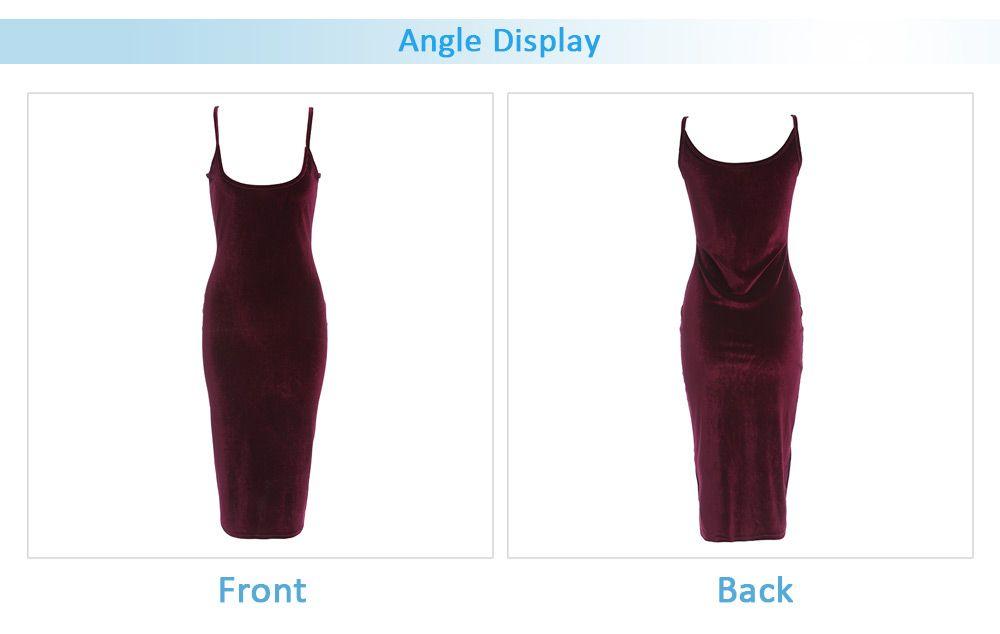 Brief Sleeveless Spaghetti Strap Dress for Women