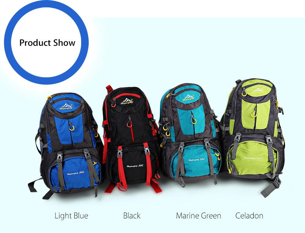 HUWAIJIANFENG 50L Outdoor Sport Traveling Climbing Backpack Multifunctional Hiking Bag