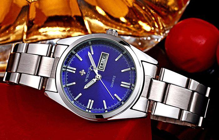 WWOOR 8804 Steel Band Ladies Quartz Watch Luminous 30M Water Resistant
