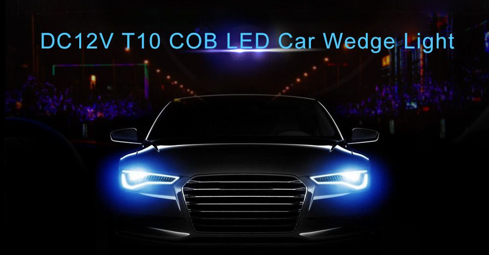 DC12V T10 Error Free Lamp COB LED High Power Car Wedge Light Parking Bulb